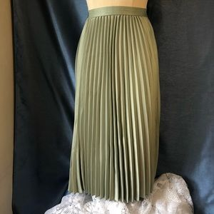 H&M Mint Green Pleated Skirt